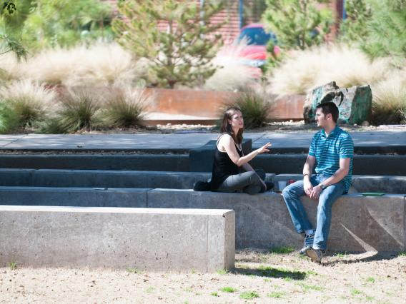 Students on a bench